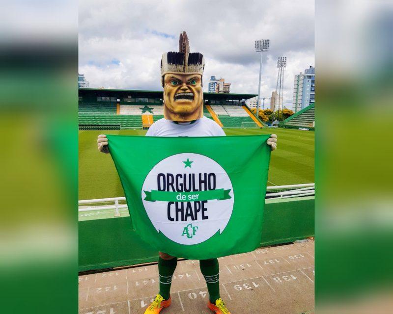 """Associação Chapecoense de Futebol, com apoio de entidades locais, lançou o movimento """"Orgulho de Ser Chape"""" – Foto: Acic/Divulgação/ND"""