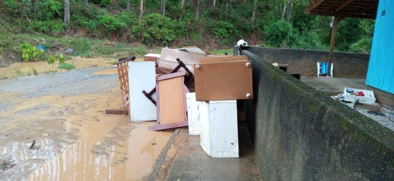 Chuva intensa na madrugada de domingo (17) causou destruição em Nova Trento – Foto: Divulgação/ND