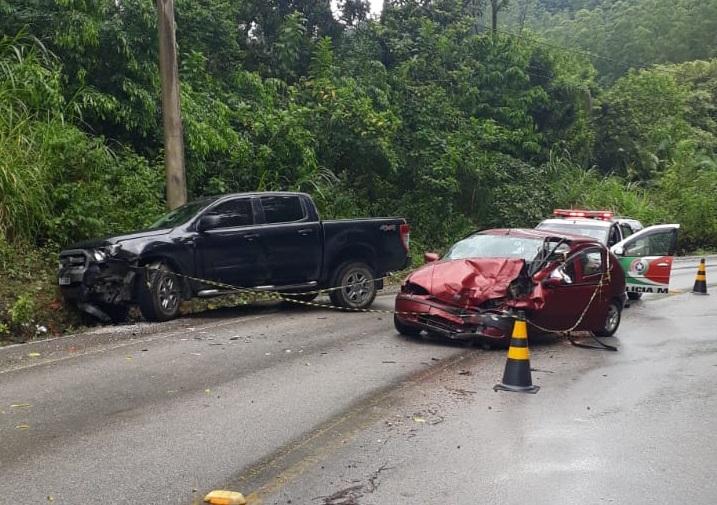 Motorista morre em grave acidente em Botuverá, no Vale do Itajaí – Foto: Divulgação/Corpo de Bombeiros