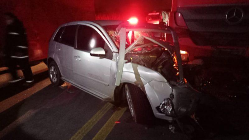 Dois motoristas embriagados são flagrados durante atendimento a acidente na BR-470 em Lontras, no Alto Vale do Itajaí – Foto: Divulgação/PRF
