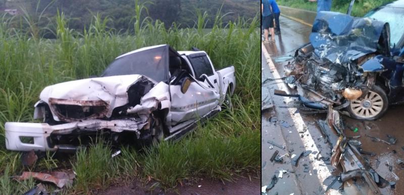 Jovem motorista morre após batida de frente na SC-480 na noite de quinta-feira (21) – Foto: PMRv/Divulgação