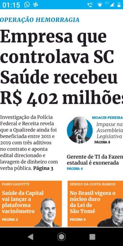 Santa Catarina dispara na corrupção – Foto: AE74E16A-B4E9-42DE-A36A-47A1A22CF37E