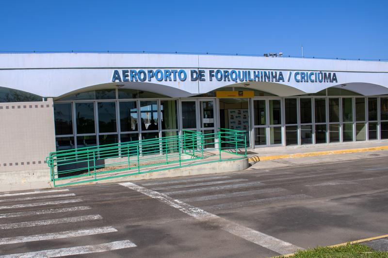 Aeroporto mais antigo do Sul está sem voos comerciais – Foto: Aeroporto Forquilhinha Criciúma