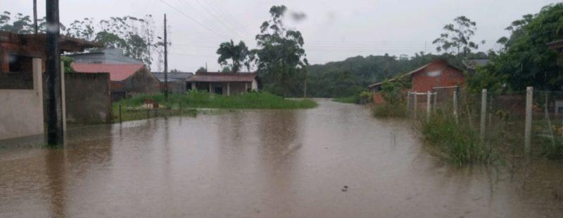 Região Norte registrou diversos pontos de alagamento e deslizamento após chuva intensa nesta quinta-feira (21) – Foto: Defesa Civil/Divulgação