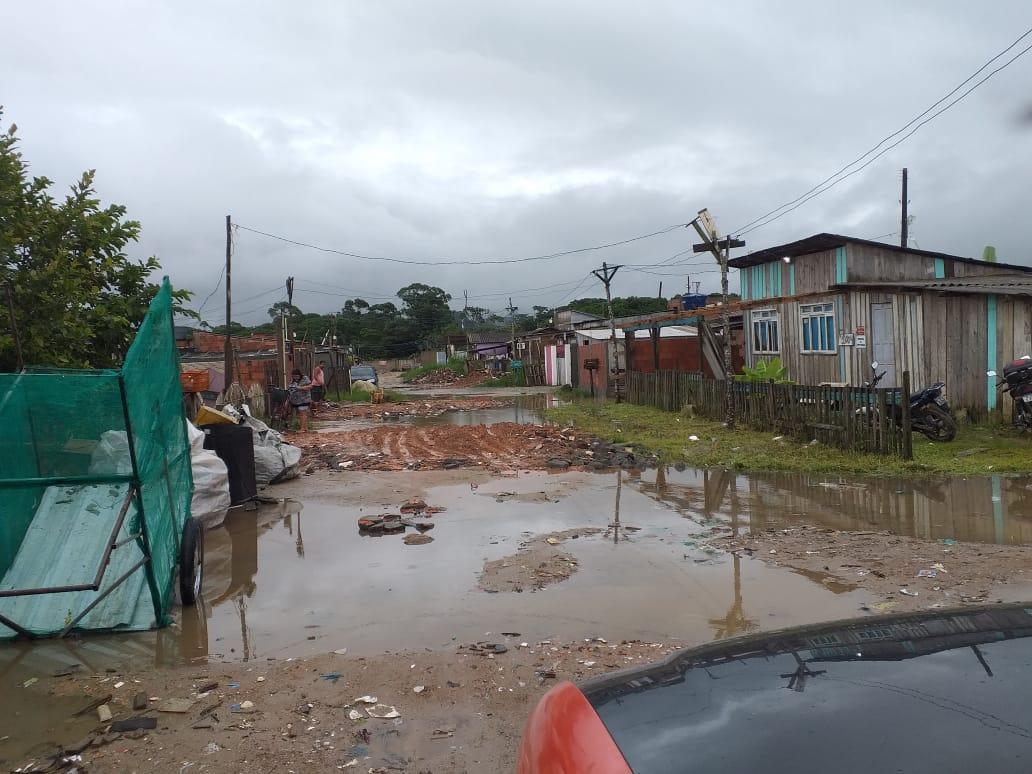 Nas últimas 24h, choveu em torno de 16 mm na cidade. - Defesa Civil Navegantes/Divulgação
