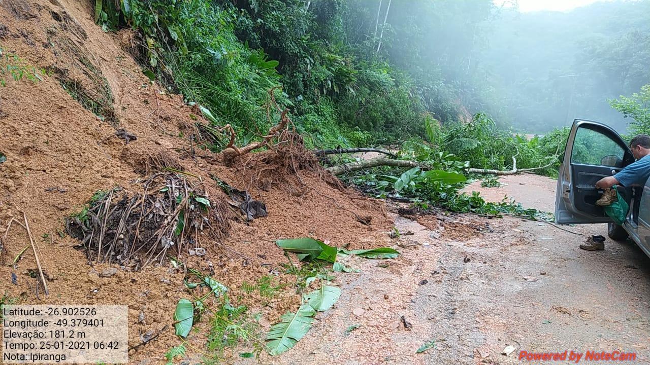 Chuva em Rodeio, Vale do Itajaí - Defesa Civil Rodeio/Divulgação