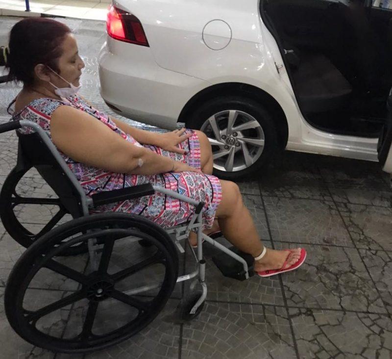 Andréa recebeu alta do hospital e vai ficar em Joinville – Foto: Arquivo pessoal/ND