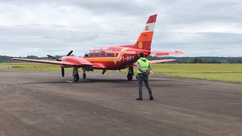 Avião trouxe doses da CoronaVac na semana passa em Chapecó – Foto: Willian Ricardo/ND