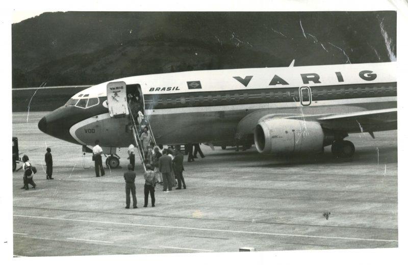 Imagem do primeiro voo do aeroporto de Florianópolis
