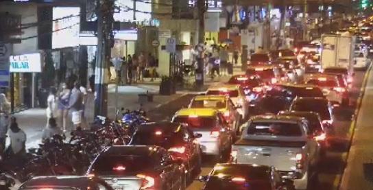 Trânsito ficou lento em Balneário Camboriú - SSP/Divulgação/ND