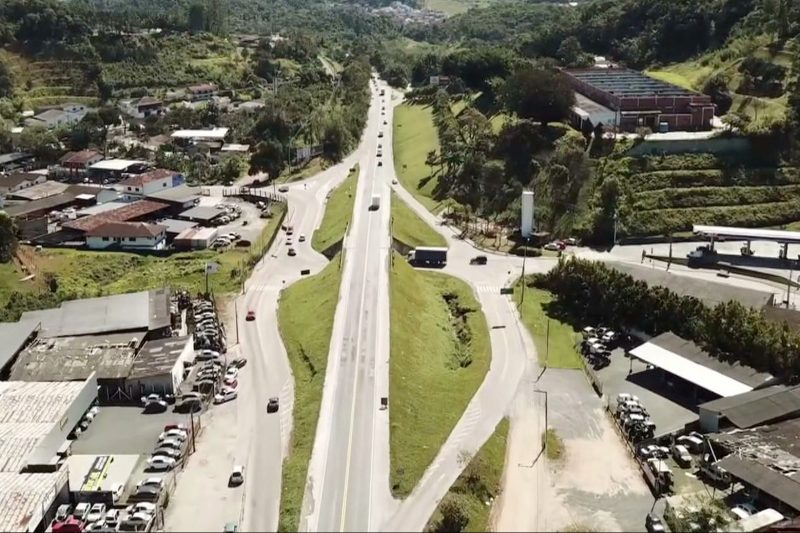 Viaduto da Dudalina, na Fortaleza deve ser concluído ainda neste ano, prevê DNIT – Foto: Reprodução / NDTV Blumenau