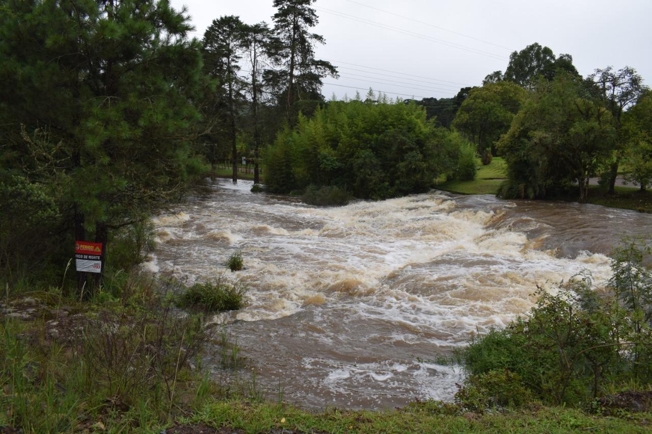 Nível do rio preocupa na localidade do Salto - Divulgação/ND