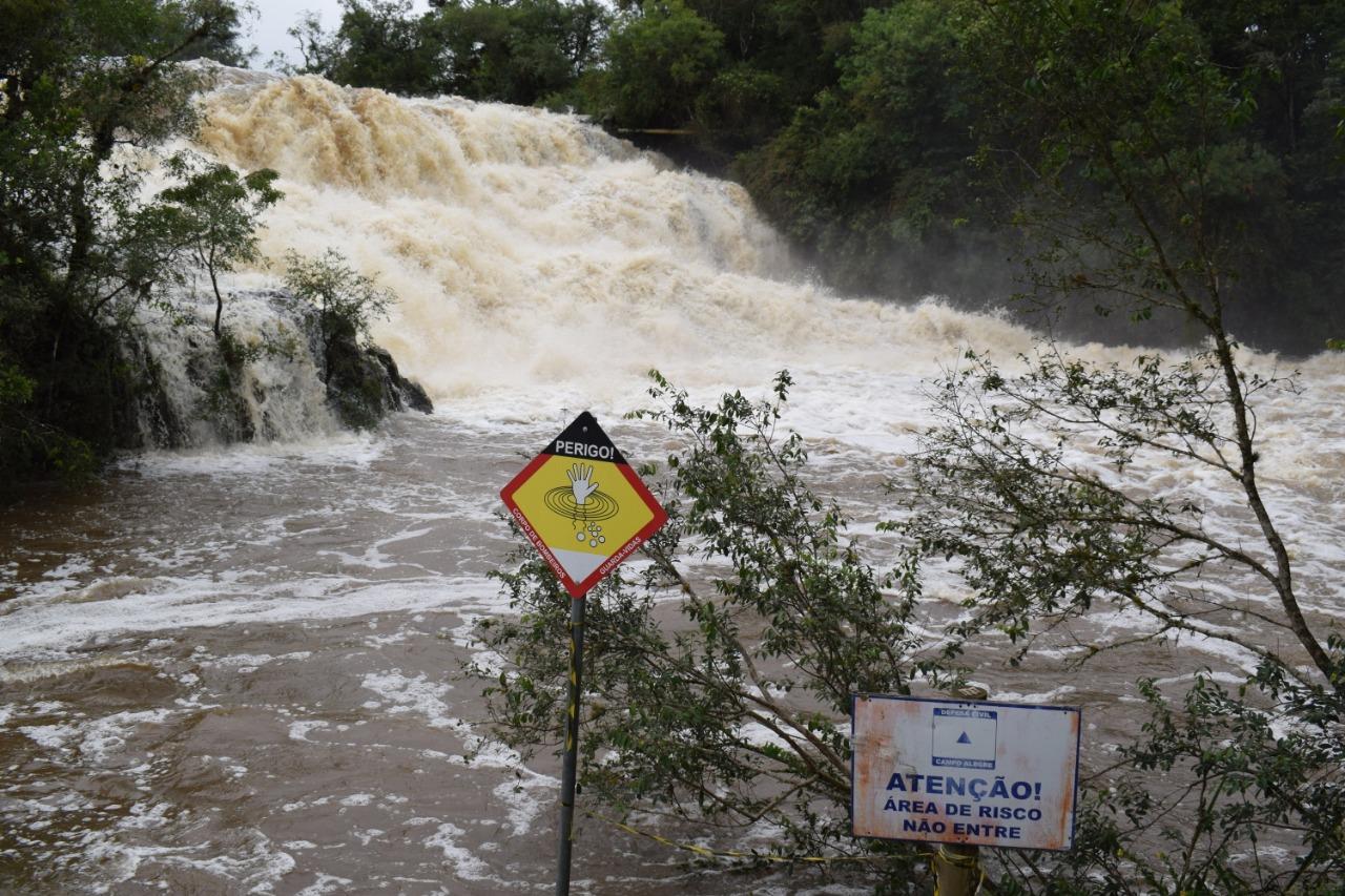 Nível da Cachoeira do Salto, em Campo Alegre, atinge patamar preocupante - Divulgação/ND