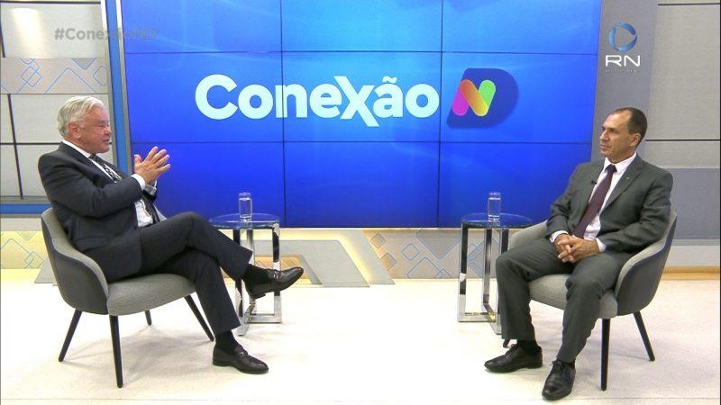 Paulo Alceu entrevista o delegado Saulo Pereira, da Receita Federal – Foto: NDTV