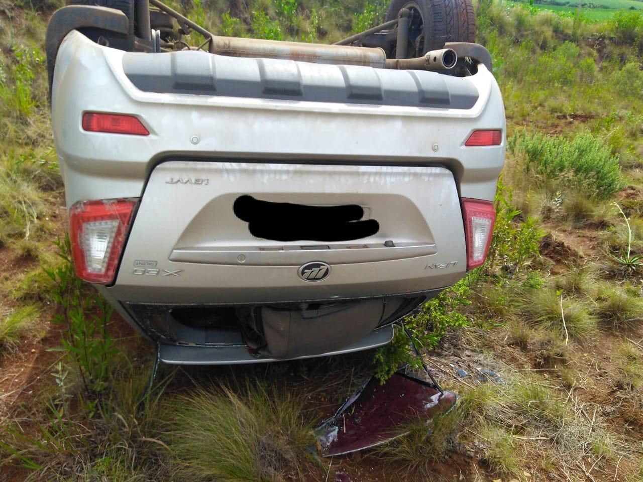 O motorista do carro teve apenas ferimentos leves. - Corpo de Bombeiros/Divulgação/ND