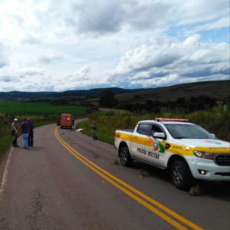 Colisão ocorreu na SC-120, em Curitibanos. – Foto: Corpo de Bombeiros/Divulgação/ND