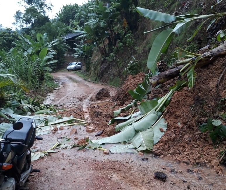 Cinco barreiras caíram em Corupá - Divulgação/ND