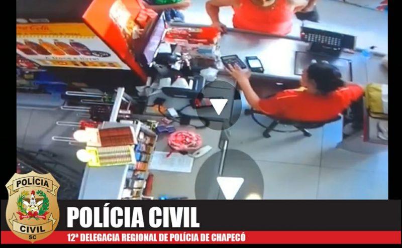 Vídeo em que aparece criança sendo ferida é apurado pela equipe da DPCAMI de Chapecó – Foto: Polícia Civil/Divulgação/ND