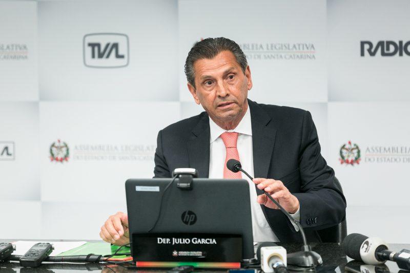 Defesa fez pedido de habeas corpus em benefício do deputado estadual Julio Garcia (PSD), presidente da Alesc – Foto: Bruno Collaço/AgênciaAL