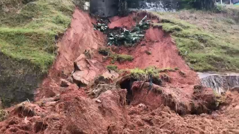 Após um final de semana de muita chuva em Florianópolis, o DNIT começou a monitorar possíveis pontos de deslizamento na manhã desta segunda-feira (25) – Foto: GMF/Reprodução