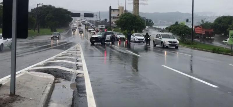 Florianópolis registrou 115 mm de chuva na madrugada desta segunda-feira (1º)