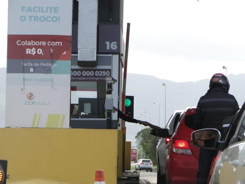 Pedágios na BR-101: situação comum para quem transita na região Sul do País – Foto: Diogo de Souza/ND