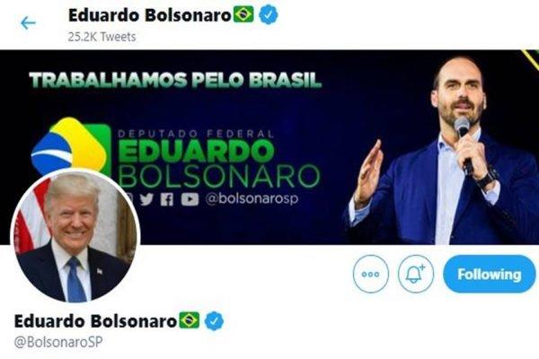 Perfil no Twitter de Eduardo Bolsonaro