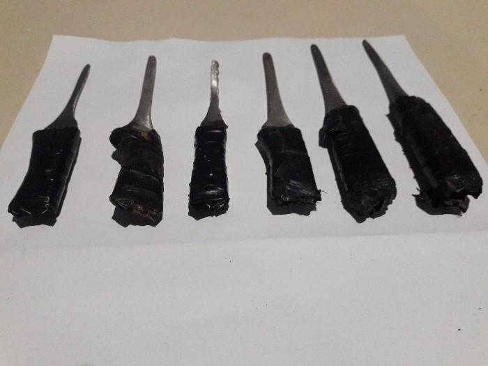 Facas produzidas artesanalmente foram apreendidas em Camboriú – Foto: Polícia Militar/Divulgação