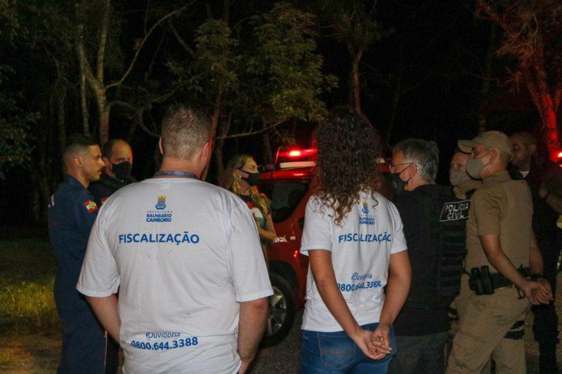 Operação Se Cuida BC fiscaliza aglomerações durante os finais de semana – Foto: Caroline Poerner/SECOM BC/Divulgação