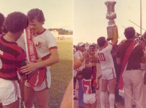Fontan foi o primeiro capitão do JEC e conquistou três taças do Campeonato Catarinense – Foto: Arquivo Pessoal/Divulgação