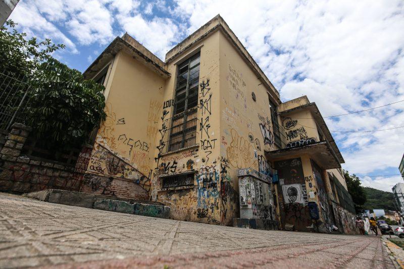 Antiga Escola Antonieta de Barros, no Centro de Florianópolis – Foto: Anderson Coelho/ND