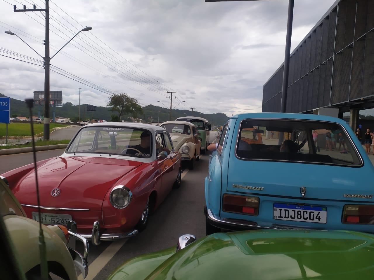 Carreata saiu do Centro de eventos de Balneário Camboriú. - Wagner S. Rodrigues