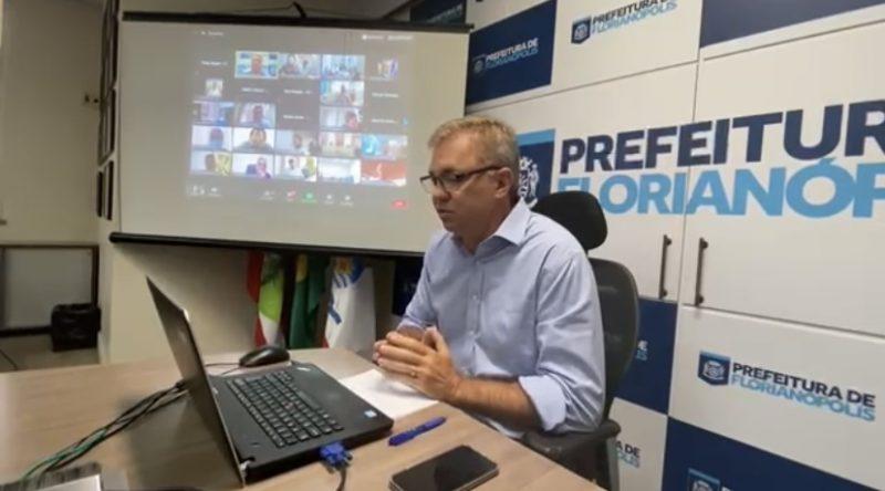 Gean Loureiro em reunião sobre vacinação no Brasil