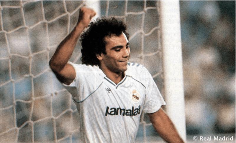Hugo Sánchez marcou época no Real Madrid como artilheiro – Foto: Divulgação Real Madrid