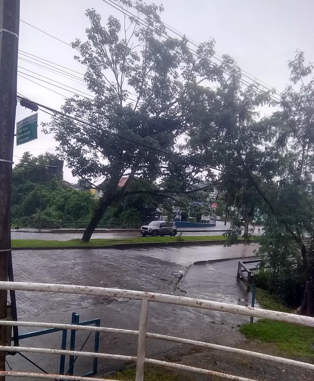 Rua Alberto Stein, em Blumenau, está interditada por conta das chuvas - Divulgação/Prefeitura de Blumenau