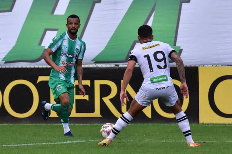 Juventude 2 a 1 no Figueirense; jogo pode ficar marcado, por vários motivos, como o da queda para a Série C – Foto: Foto: Arthur Dallegrave/Juventude EC