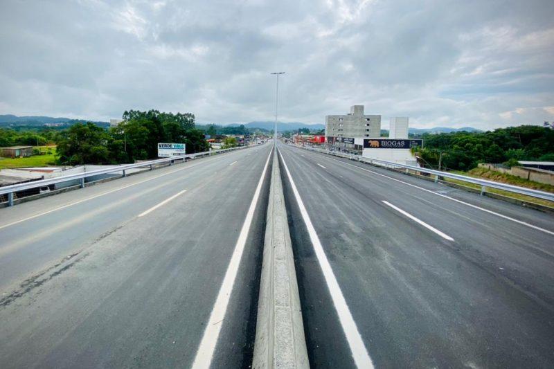 DNIT libera viaduto duplicado na BR-470 em Indaial – Foto: Moisés Stuker/NDTV