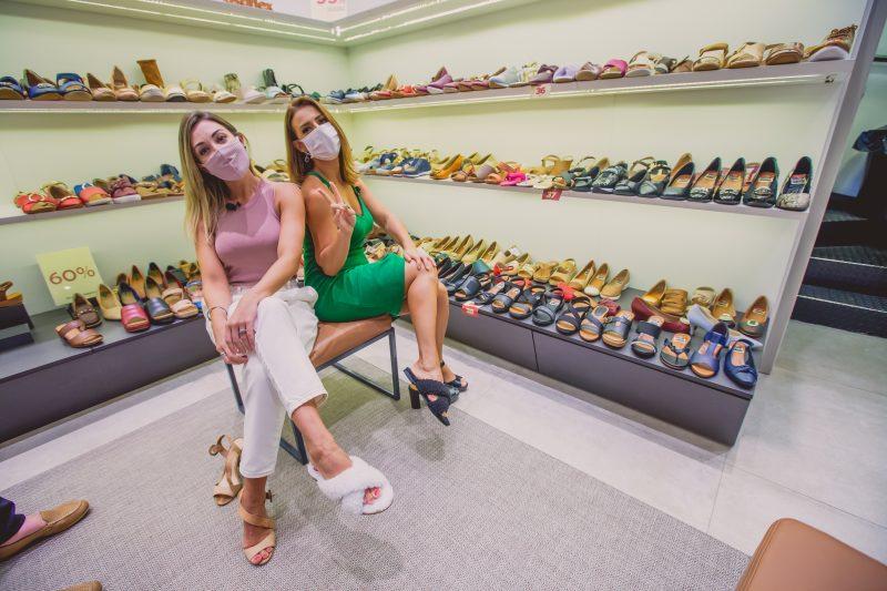 Para os sapatos, conforto de acordo com a moda – Foto: Isis Lacombe/ND