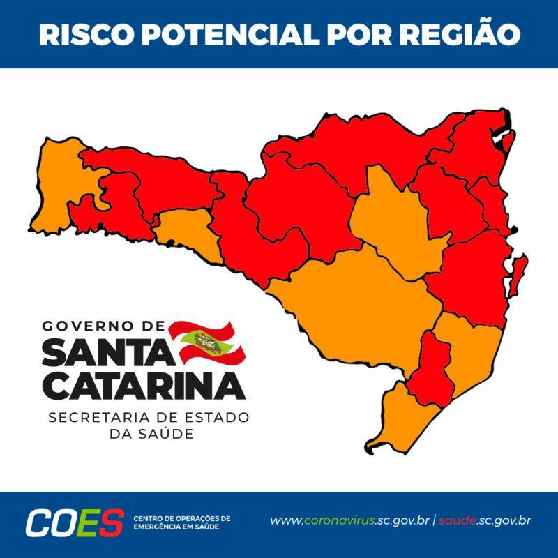 Novo mapa foi divulgada na manhã desta quinta-feira (7) – Foto: Secretaria de Estado da Saúde/Divulgação