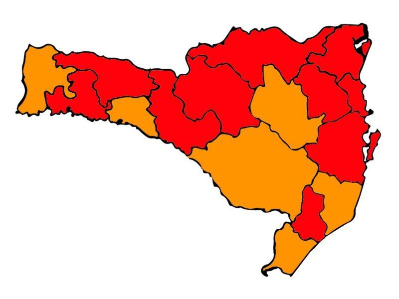 Novo Mapa de Risco Potencial para a Covid-19 foi divulgado na manhã desta quinta-feira (7) – Foto: Secretaria de Estado da Saúde/Divulgação