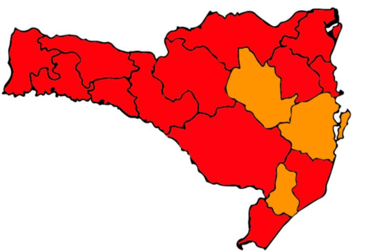 Médio Vale segue em nível gravíssimo para coronavírus – Foto: Divulgação/Governo do Estado de Santa Catarina/ND