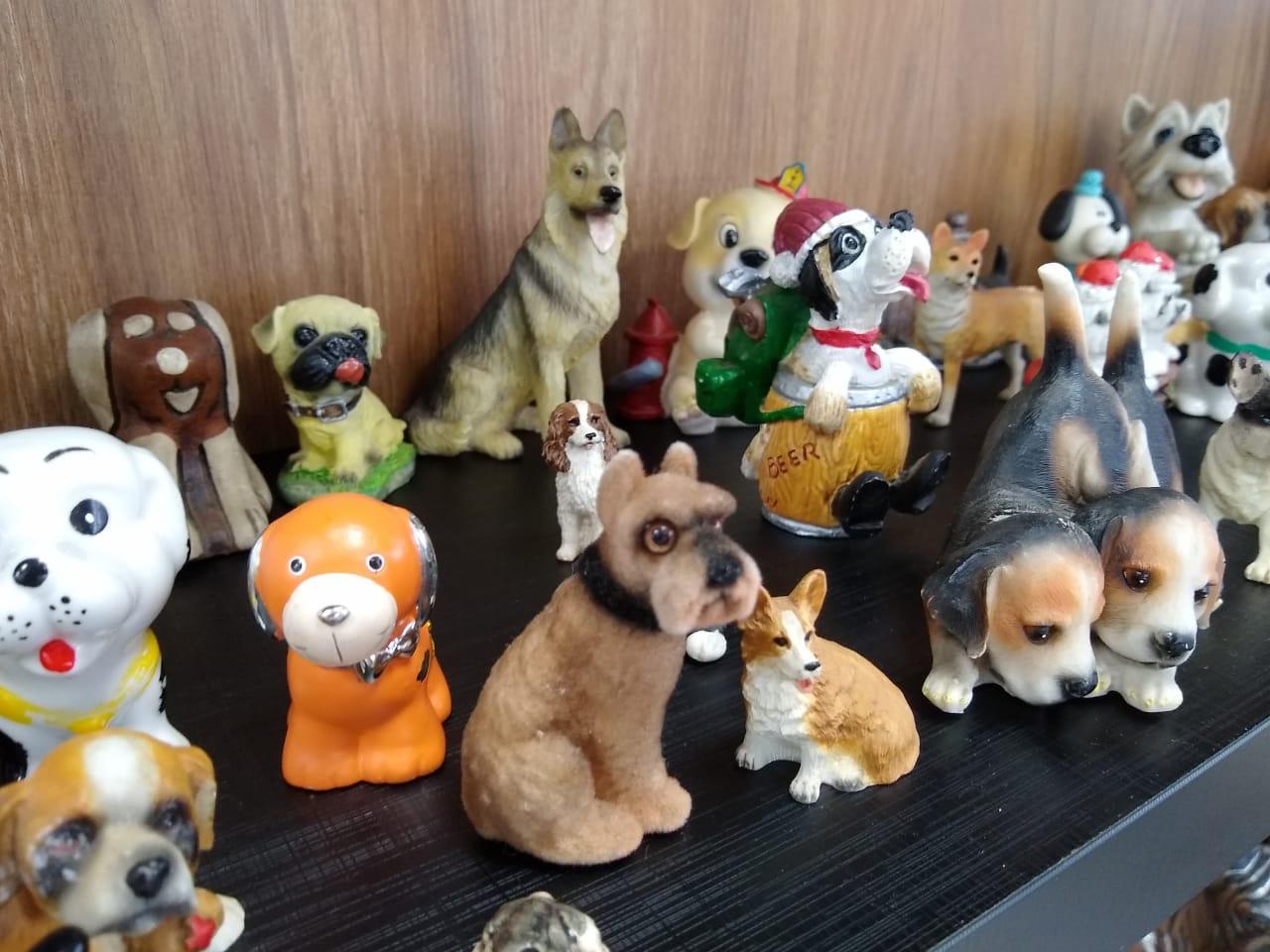 As miniaturas estão expostas na sala de comando no Batalhão de Bombeiros de Chapecó - Carolina Debiasi/ND