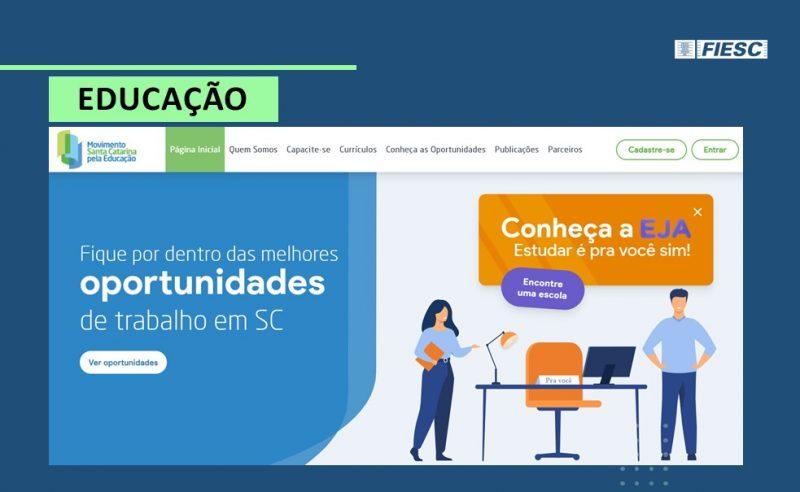 Cursos gratuitos estão disponíveis em site – Foto: Movimento SC pela Educação/Reprodução