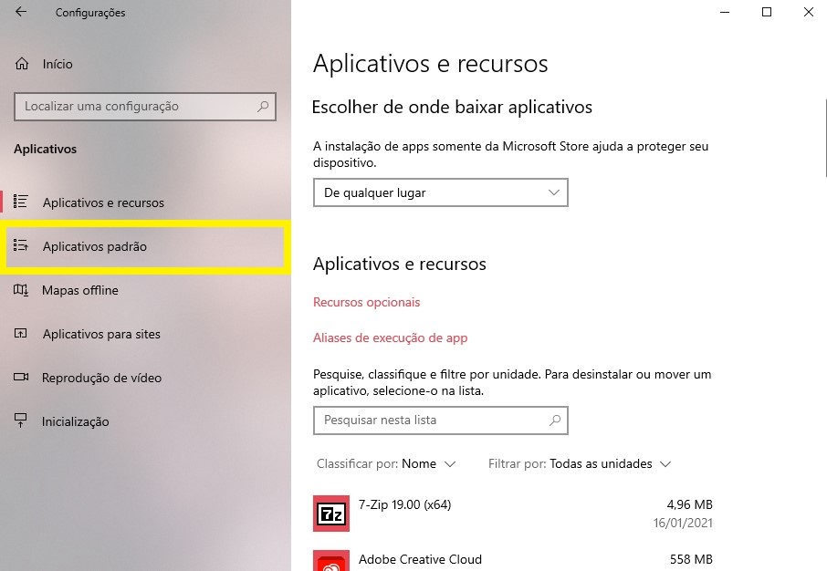 Passo 3 - Crédito: Reprodução/Windows/33Giga/ND