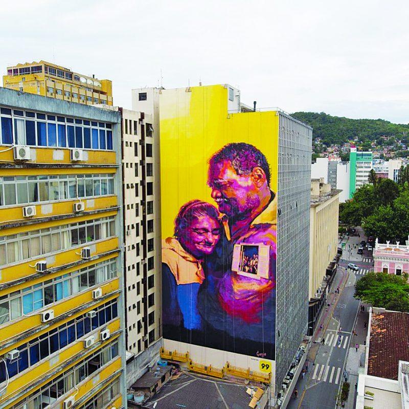 Novo painel na rua Tenente Silveira – Foto: Divulgação/ND