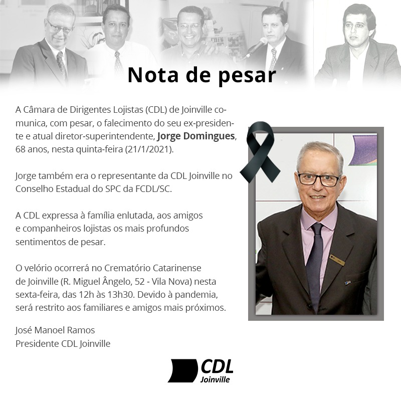 Entidade emitiu nota de pesar após morte de ex-presidente – Foto: CDL/Divulgação