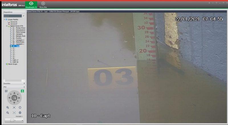 Nível do rio segue sendo monitorado pela Defesa Civil – Foto: Prefeitura de Rio Negrinho/Divulgação