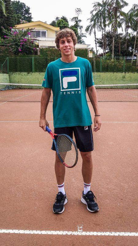 Pedro Boscardin vê preparo físico como parte fundamental para sucesso no tênis profissional – Foto: Yan Pedro/ND
