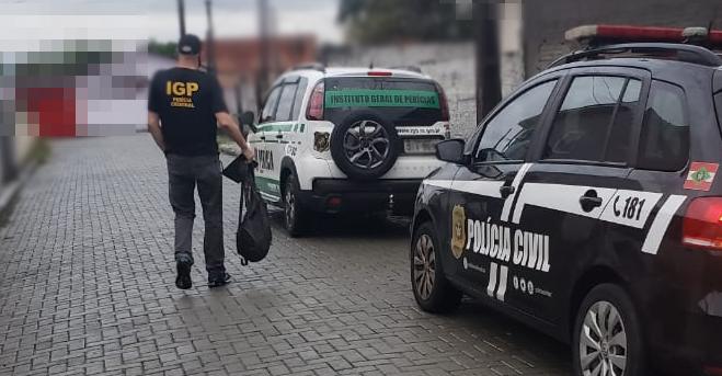 Operação ocorreu na manhã desta sexta-feira (22) em Palhoça, na grande Florianópolis – Foto: Polícia Civil/Divulgação