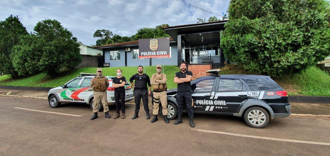 Três prisões contaram com o apoio da PM (Polícia Militar). - Polícia Civil/Divulgação